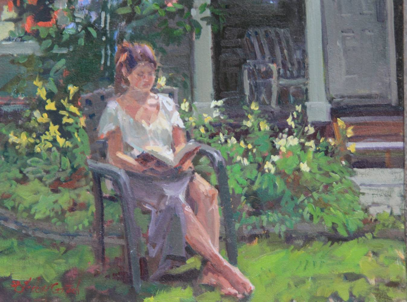 Painting Relaxed and Reading by Susette Gertsch