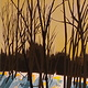 Acrylic painting Dusk at Blue by Gordon Sellen