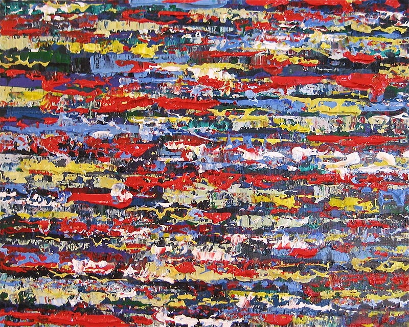 Acrylic painting Urban Rhythms #10  by David Tycho