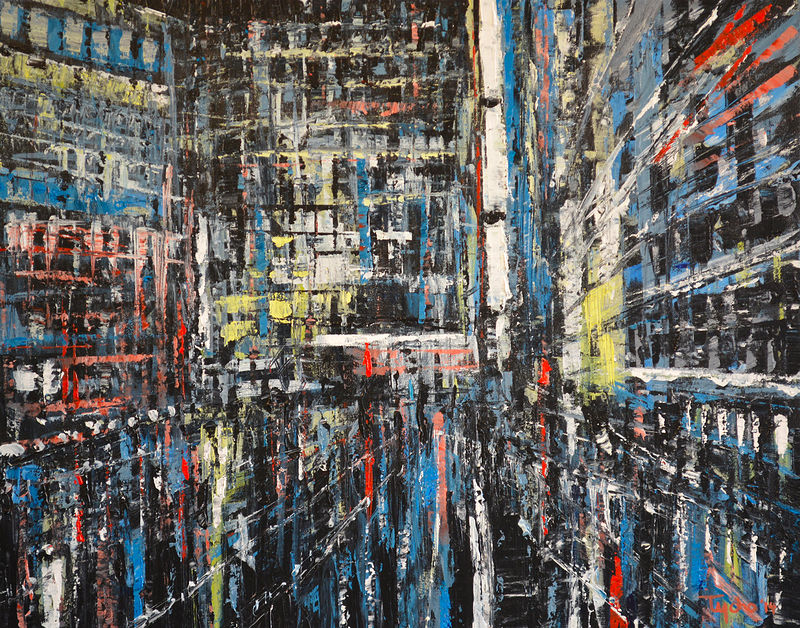 Acrylic painting Urban Rhapsody #3  by David Tycho