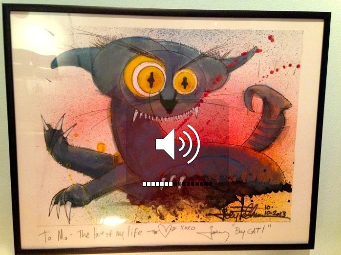 Bad Boy Blue (original art) Framed by Joey Feldman