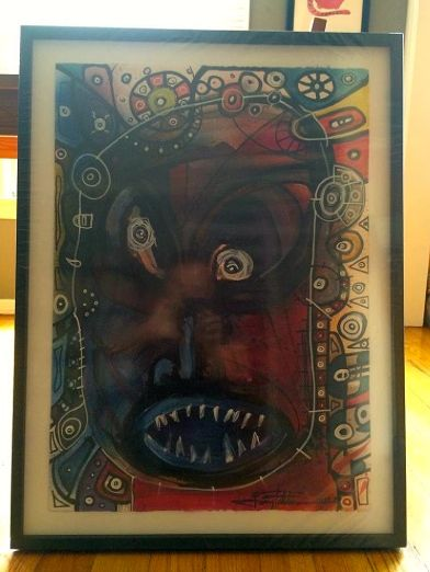 Tribal (original art) Framed by Joey Feldman