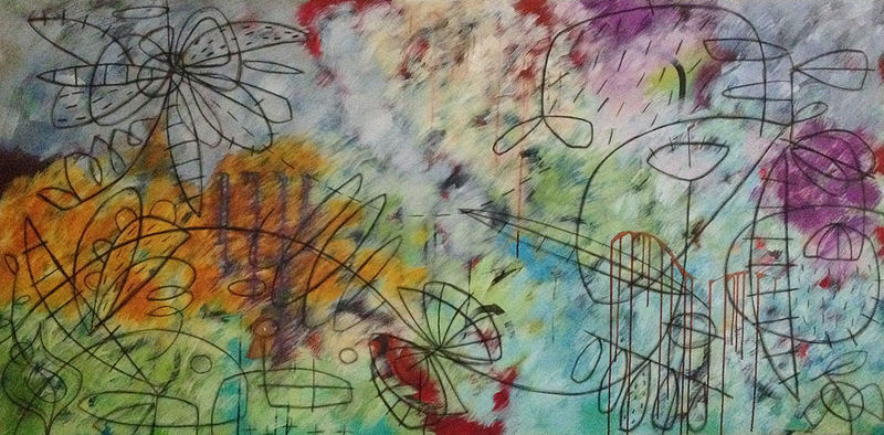 Acrylic painting Addison Paige #49 Continuous Motion Contraption No. 1  by Addison Paige