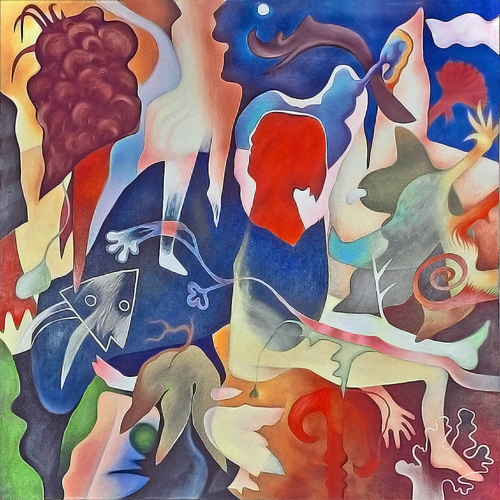 Oil painting Earth Odysey by Jarmila Kostliva