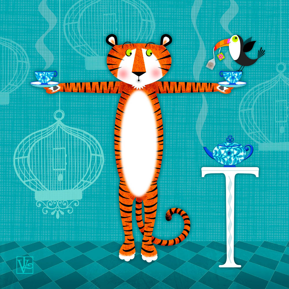 T is for Tiger's Tea and Toucan by Valerie Lesiak