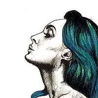 The Girl with the Teal Hair 2014 by Joni Belaruski