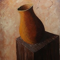 Acrylic painting Modern Vase1 by George Servais