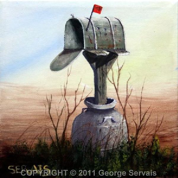 Acrylic painting No More Mail Here by George Servais