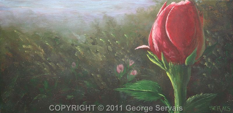 Acrylic painting The Flower by George Servais