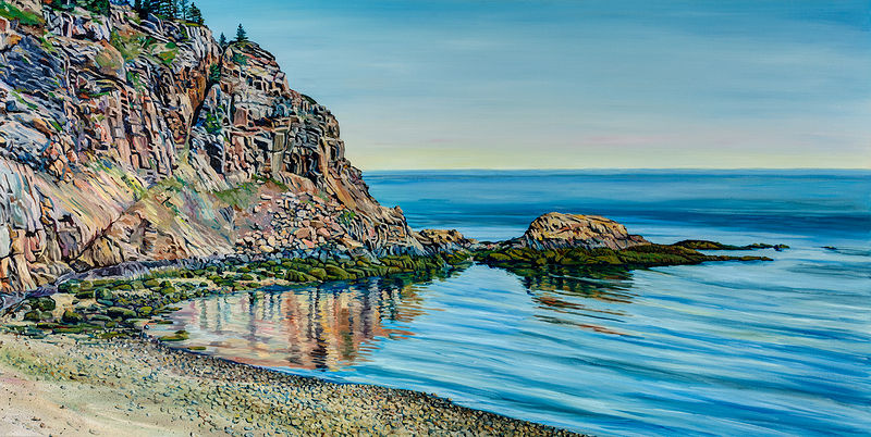 Oil painting Ashburton Head by Michael McEwing