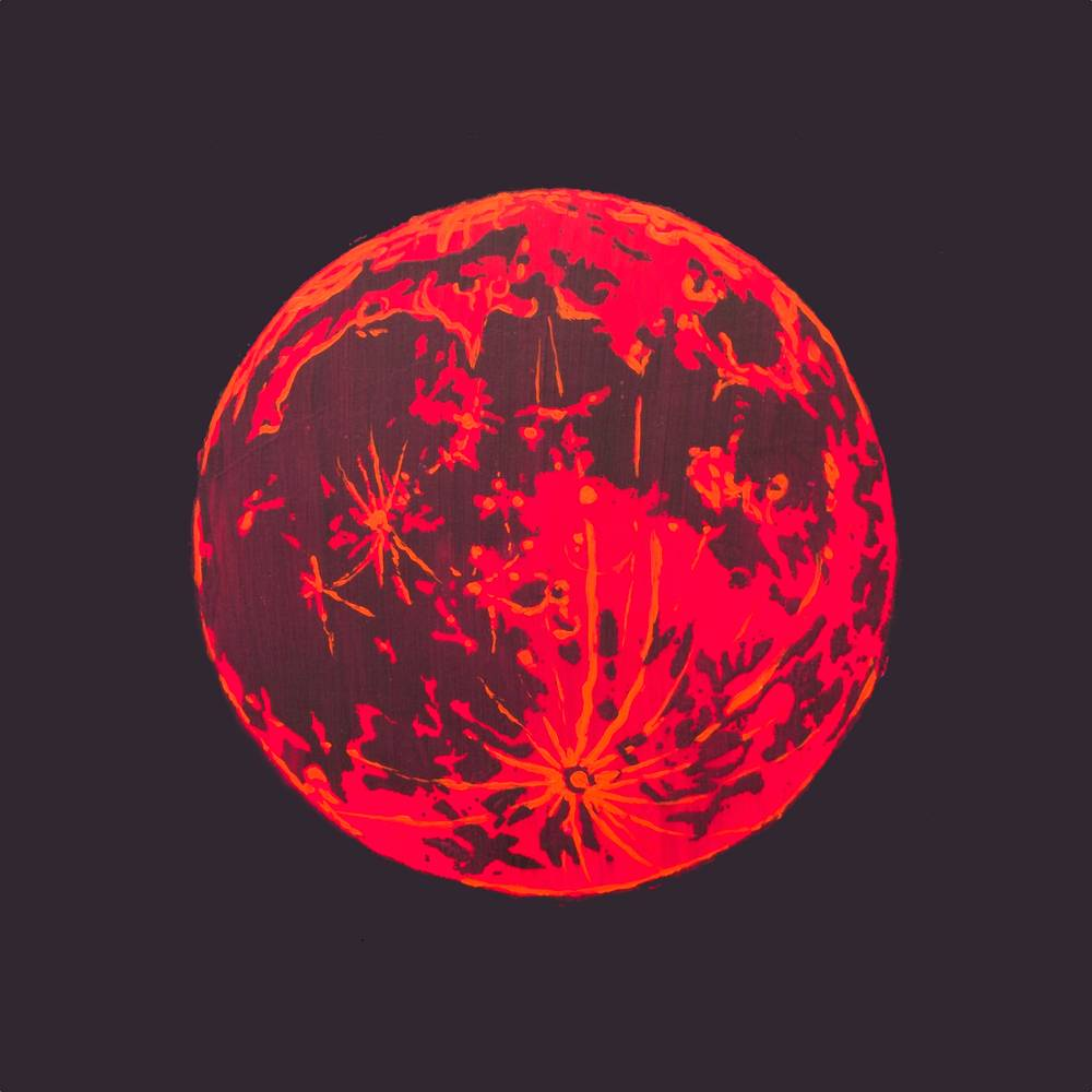 Acrylic painting blood moon 1 by Amber Macgregor