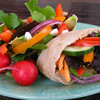 stuffed pita by Jacqueline Janecke