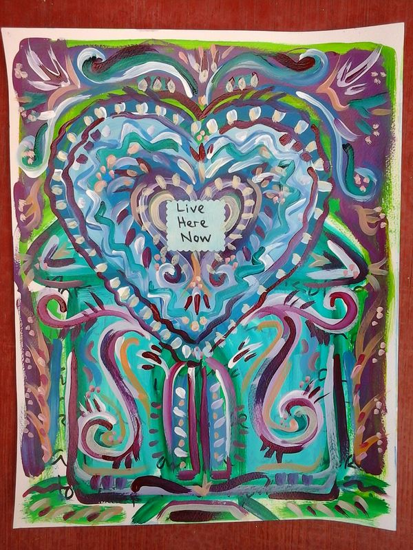 Acrylic painting House of the Heart by Emily K. Grieves