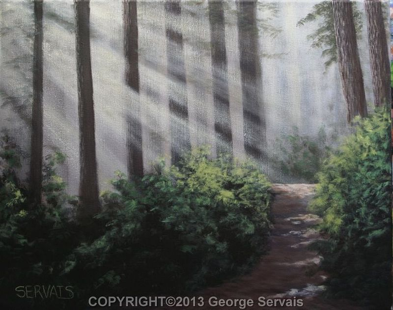 Acrylic painting Less Traveled By by George Servais