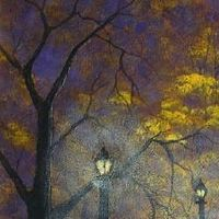 Acrylic painting Autumn Eve Rain 2 by George Servais