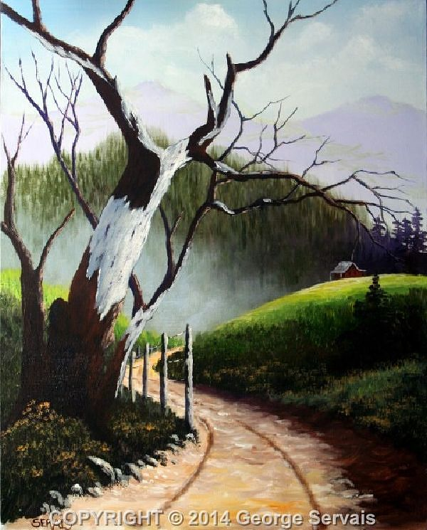 Acrylic painting Mountain Pathway by George Servais