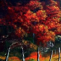 Acrylic painting Autumn Path to The Wood by George Servais