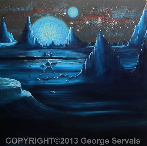 Acrylic painting Dark Star Rising SOLD by George Servais
