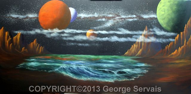 Acrylic painting Hostile Worlds 3 by George Servais