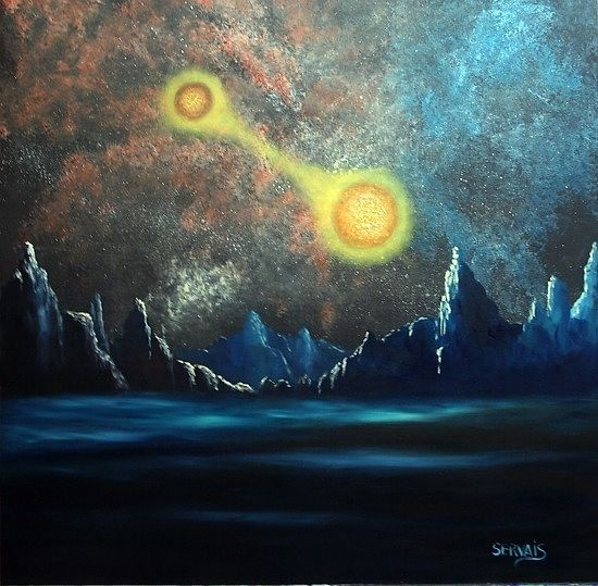 Acrylic painting Binary Eve ON HOLD by George Servais