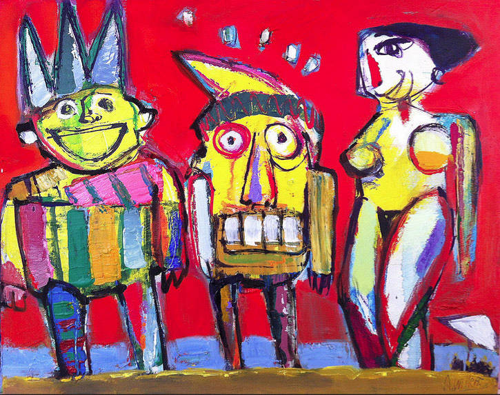 Acrylic painting Friends  by Allen  Wittert