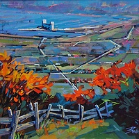 Blue Mt October  Acrylic 14x18  2014 by Brian  Buckrell