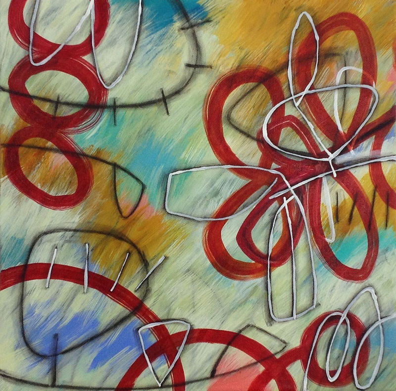 Acrylic painting Addison Paige #105 Another Wind Plays   by Addison Paige