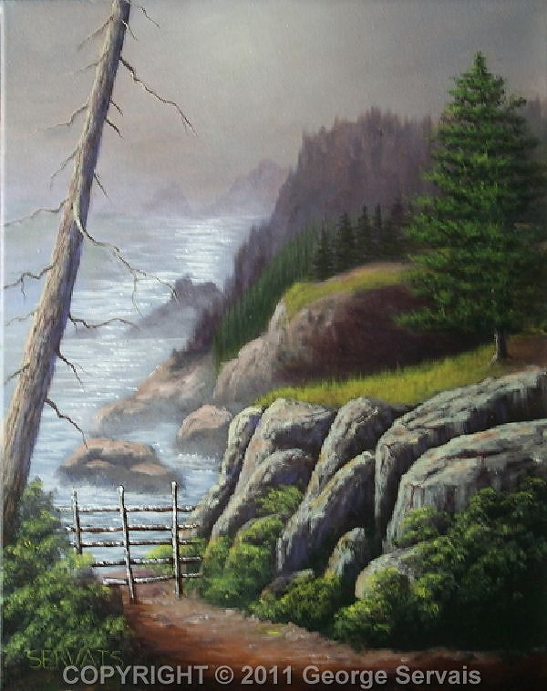 Acrylic painting Northwest Morn by George Servais