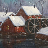 Winter Morn at the Mill by George Servais