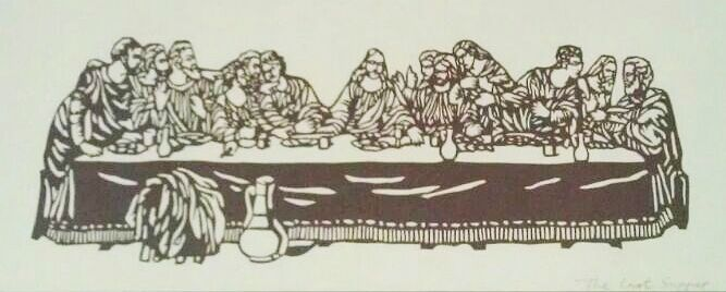 Drawing Last Supper by Vicki Allesia