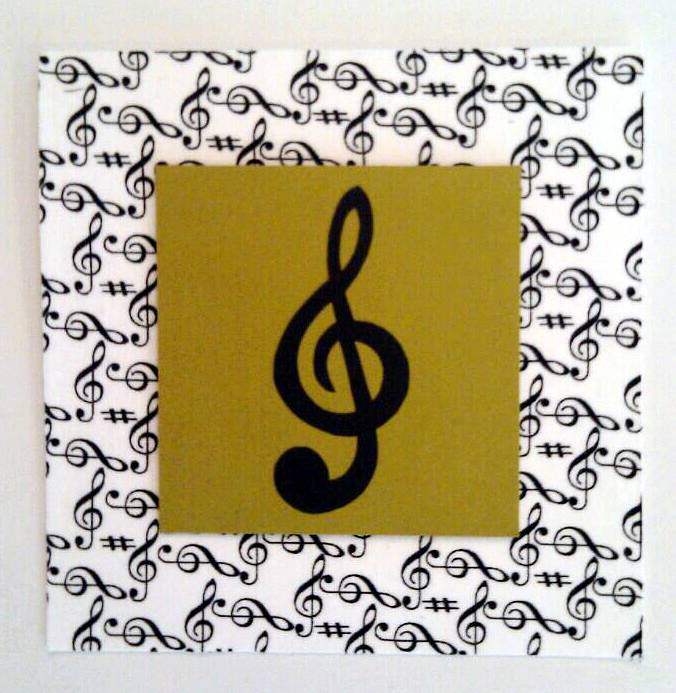 Drawing Music Note Card by Vicki Allesia