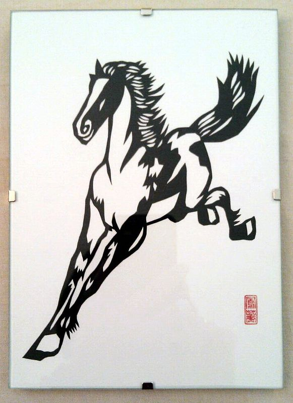 Drawing Running Horse by Vicki Allesia