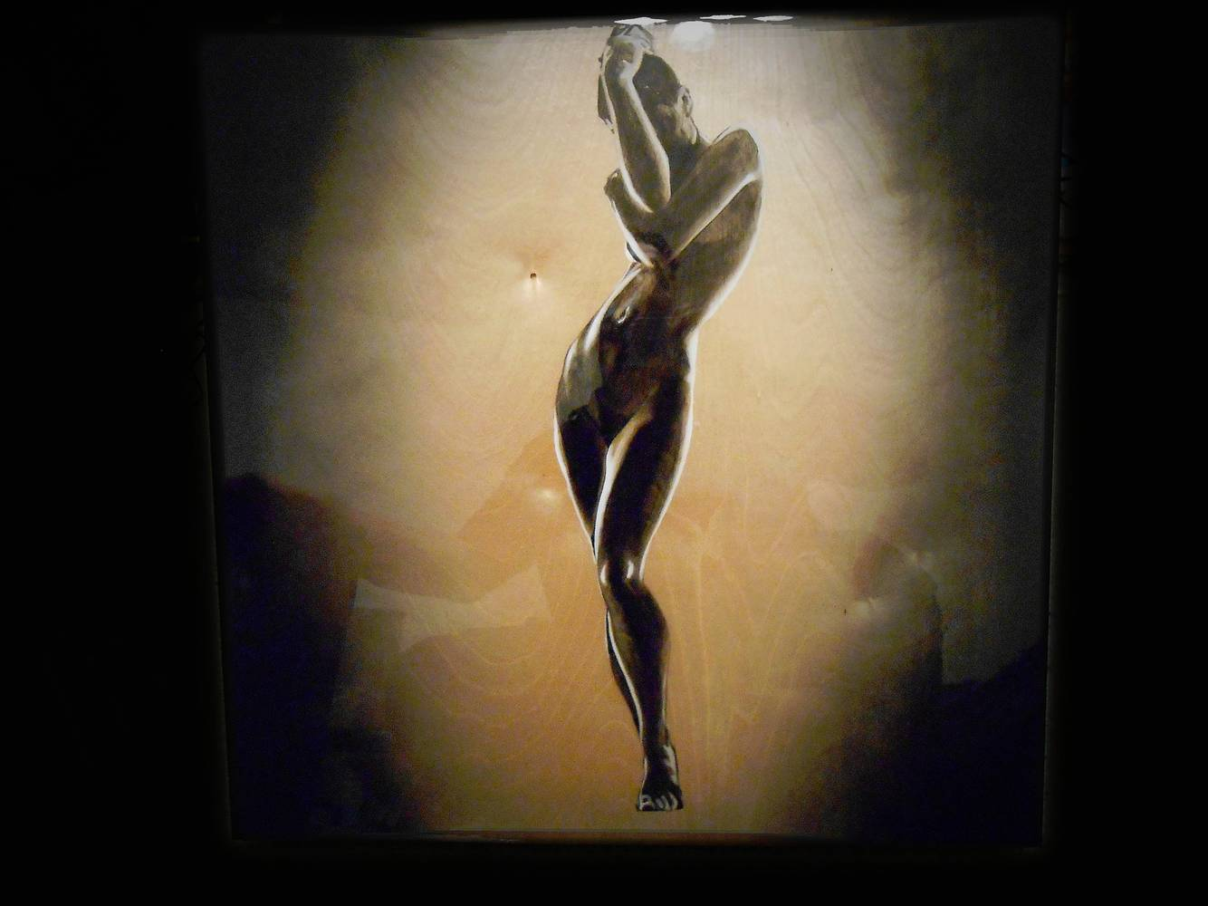 Acrylic painting Nude Silhouette by Darren Hurst