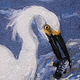 Egret with a Fish by Valerie Johnson