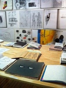 Installation view: Sketchbook by Judy Southerland