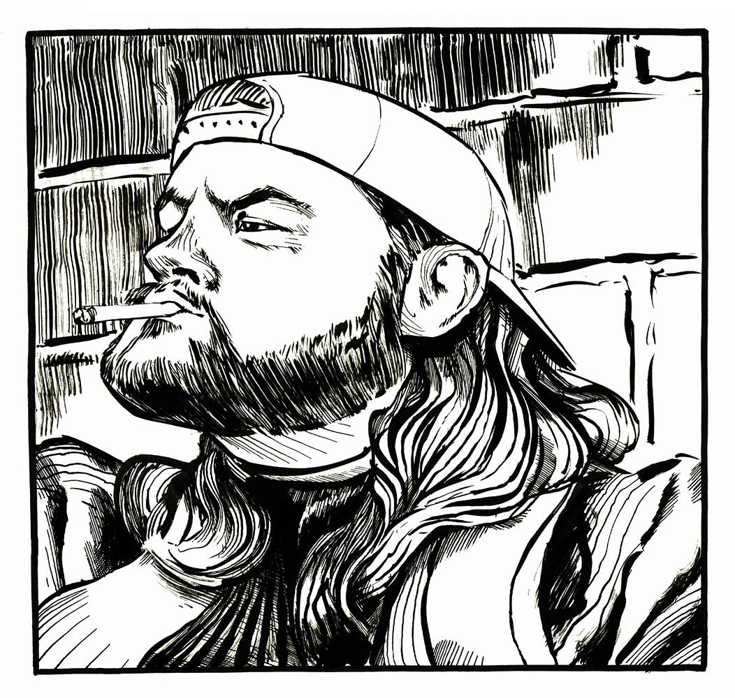 Drawing Silent Bob by Hendrik Gericke