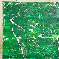 Acrylic painting green by Jeffrey Newman