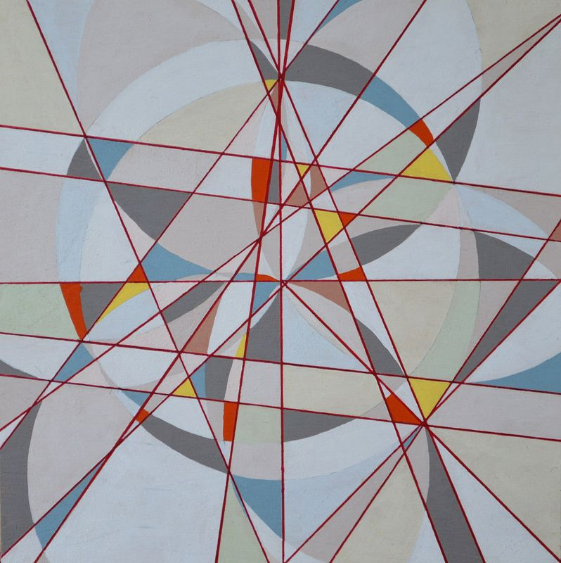Acrylic painting Parnasus (Intuitive Geometry) by Graham Hall
