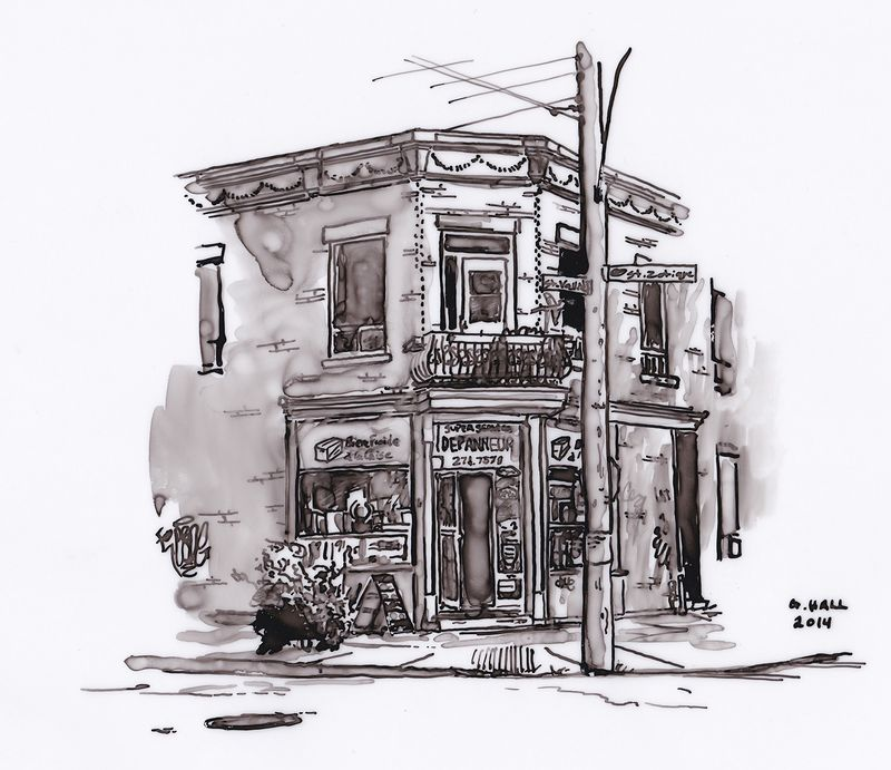 Drawing Depanneur (Super Service) by Graham Hall