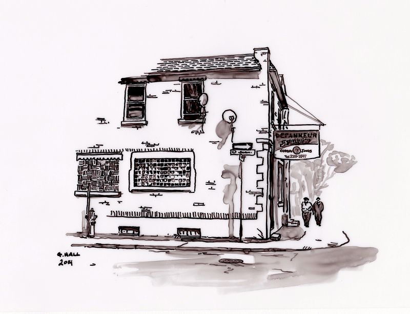 Drawing Depanneur (Steve's) by Graham Hall