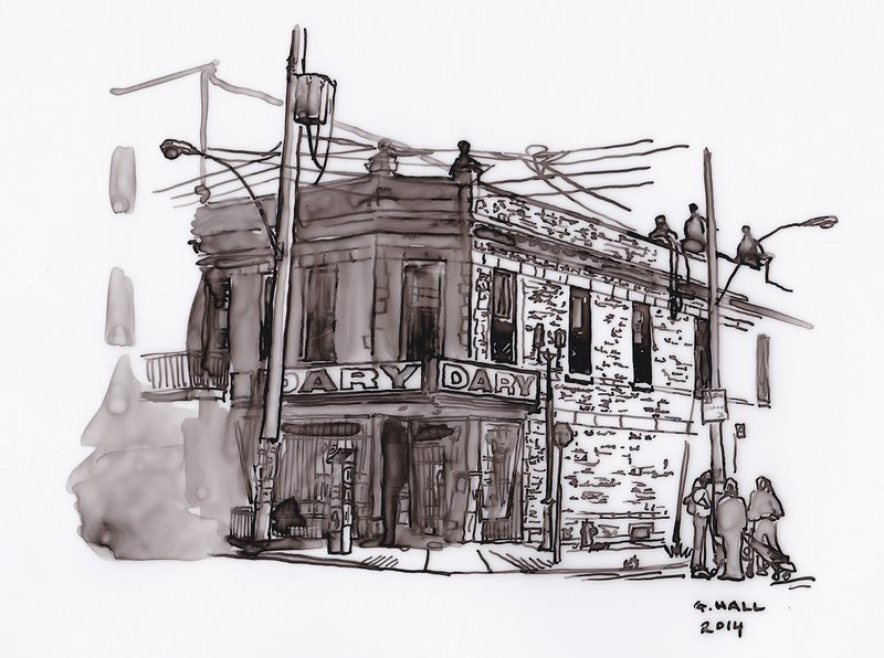 Drawing Depanneur (Dary) by Graham Hall