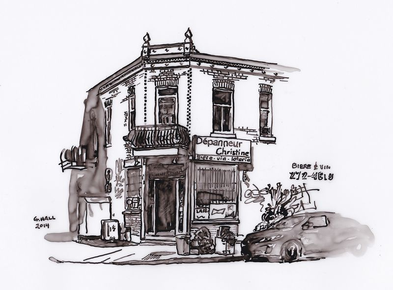 Drawing Depanneur (Christine) by Graham Hall