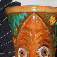 Acrylic painting Pingo hand painted Tikifarm mug  Jungle Love Edition by Kenneth M Ruzic