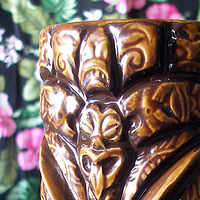Painting Pupule hand painted mug  Chocolate Thunder Edition by Kenneth M Ruzic
