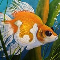 Acrylic painting Fancy Fish by George Servais
