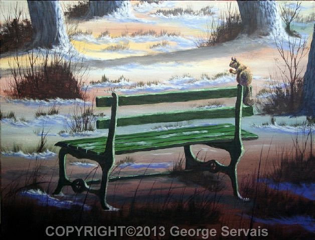 Acrylic painting Quiet Spot by George Servais