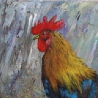Acrylic painting Rooster2 by George Servais