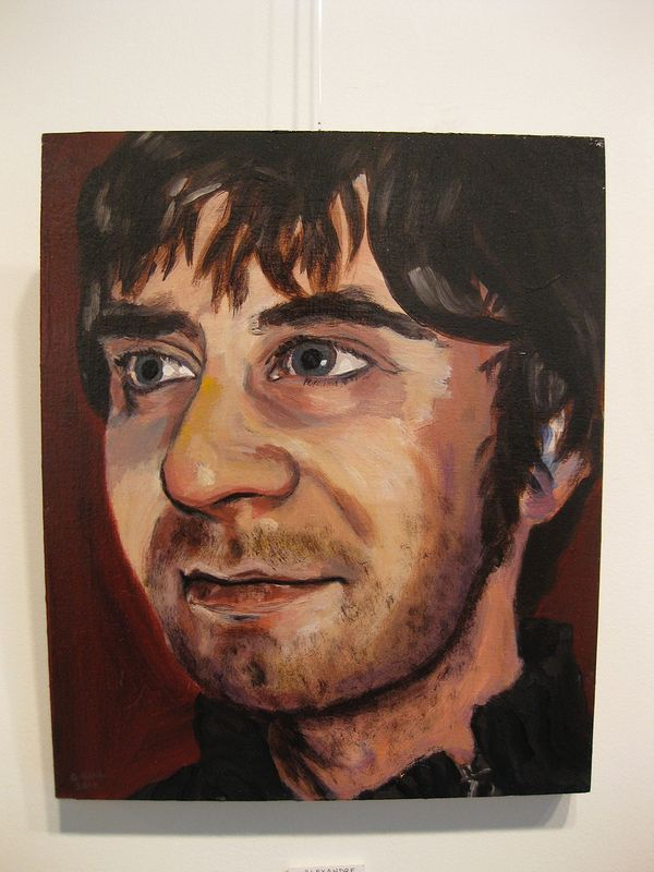 Acrylic painting Alex Côté-Fournier by Graham Hall