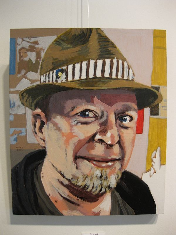 Acrylic painting Allan Sutt by Graham Hall