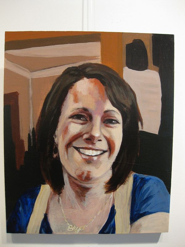Acrylic painting Skye Maule-O'Brien by Graham Hall